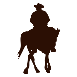 Cavalo de vaqueiro, virando a silhueta