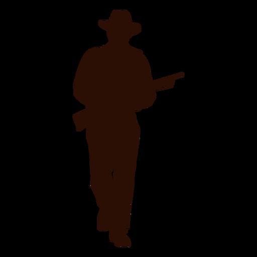 Cowboy ranger silhouette