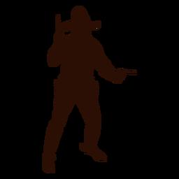 Cowboy shooting silhouette