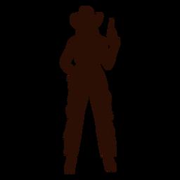 Bereitschaftsschattenbild der Cowgirlpistole