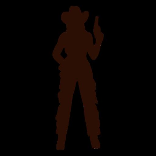 Silueta lista de pistola vaquera