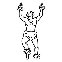 Dancing hawaiian man outline