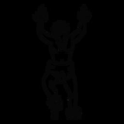 Dancing hawaiian man outline