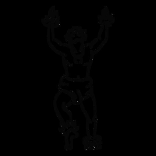 Esquema de baile hombre hawaiano Transparent PNG