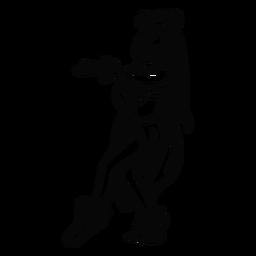 Mulher havaiana dançando contorno de pé