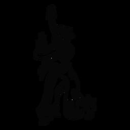 Bailando contorno de giro de mujer hawaiana