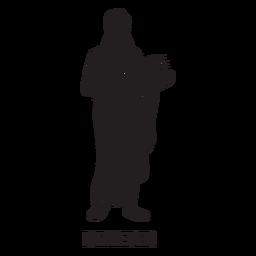 Demeter dibujado a mano cortado negro