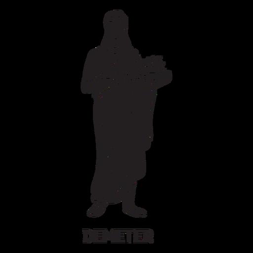 Demeter dibujado a mano cortado negro Transparent PNG