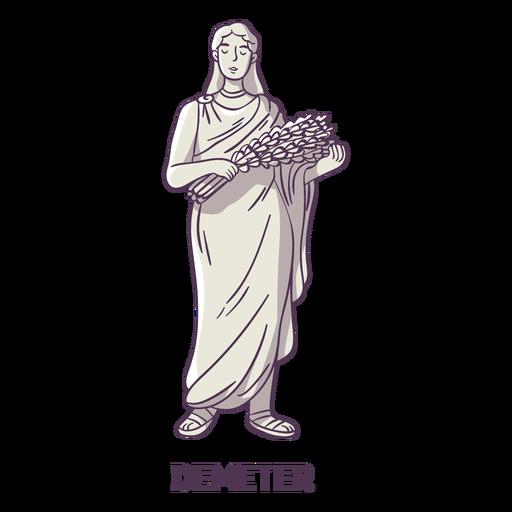 Demeter gris dibujado a mano Transparent PNG