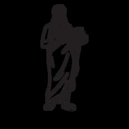Contorno desenhado de mão Demeter