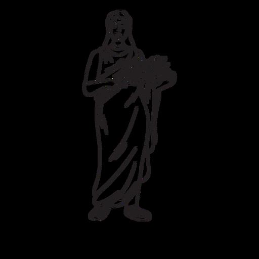 Contorno dibujado a mano de Demeter