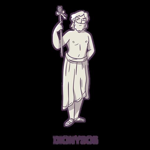Dionysos dibujado a mano gris Transparent PNG