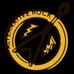 Electric guitar alternative rock symbol