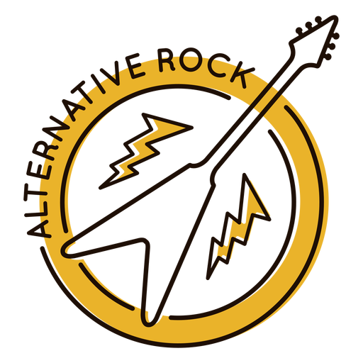 Electric guitar alternative rock symbol Transparent PNG