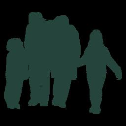 Família de quatro silhueta