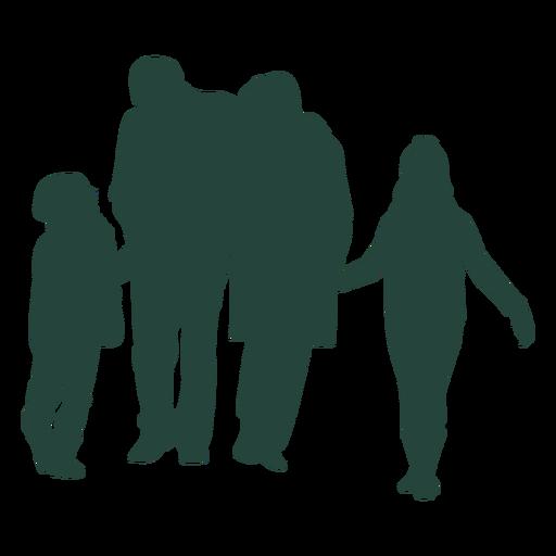 Família de quatro silhueta Transparent PNG