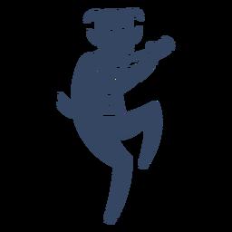 Fauno sátiro hombre cabra cortado negro