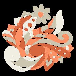 Pássaro orgânico floral como composição