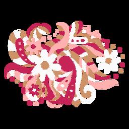 Composição orgânica floral
