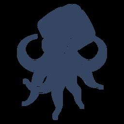 Calamar gigante kraken cortado negro