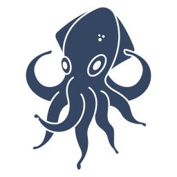Giant squid kraken cut out black