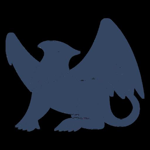 Griffin cortado negro Transparent PNG