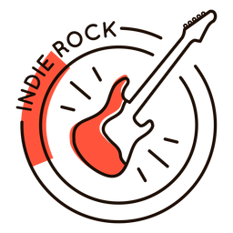 Guitar indie rock symbol