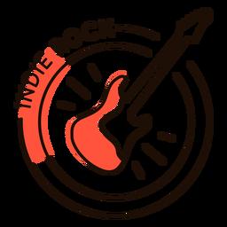 Símbolo de guitarra indie rock
