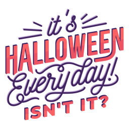 Letras diárias de Halloween