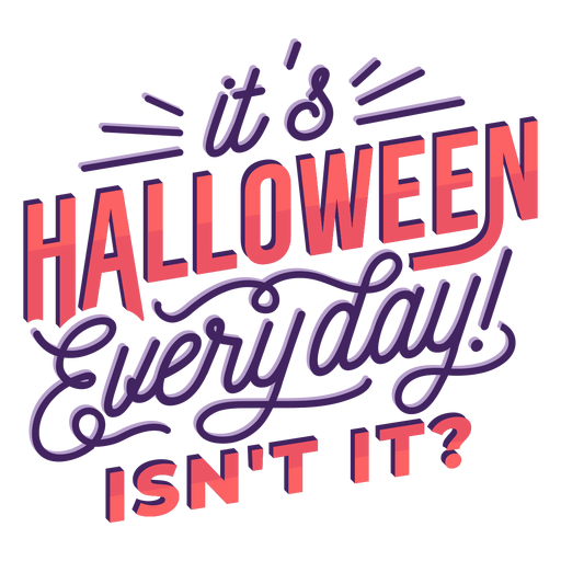 Halloween everyday lettering Transparent PNG