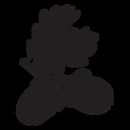 Hand gezeichnete Eichel herausgeschnitten