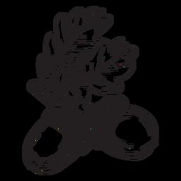 Esquema de bellota dibujado a mano