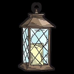 Linterna de vela dibujada a mano