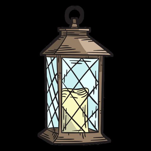 Hand drawn candle lantern Transparent PNG