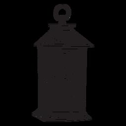 Dibujado a mano vela linterna cortada