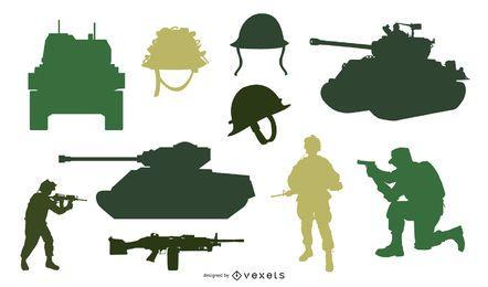 Militärische Vektoren Pack