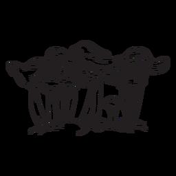 Dibujado a mano contorno de setas rebozuelos