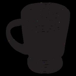 Dibujado a mano malvavisco chocolate caliente cortado