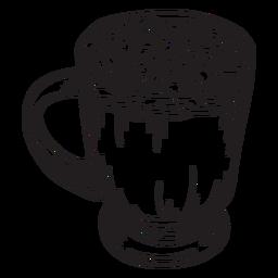 Hand gezeichneter Entwurf der heißen Schokolade des Eibisches