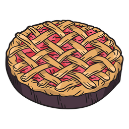Hand drawn pie