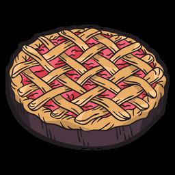 Torta desenhada de mão