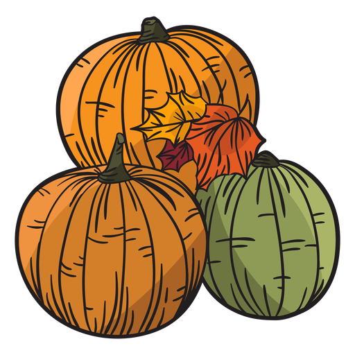 Hand drawn pumpkin Transparent PNG