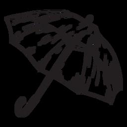 Hand drawn umbrella outine