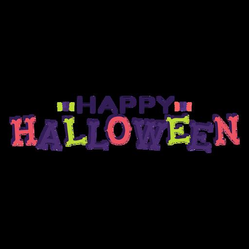 Letras de feliz dia das bruxas Transparent PNG