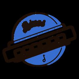 Mundharmonika-Blues-Symbol