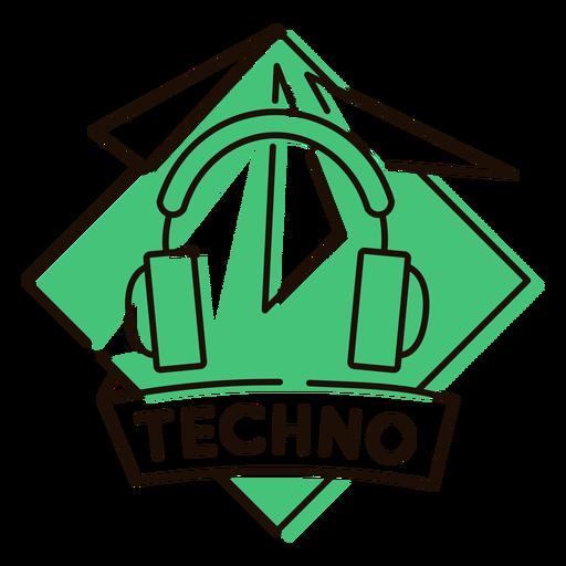 Símbolo de techno de auriculares
