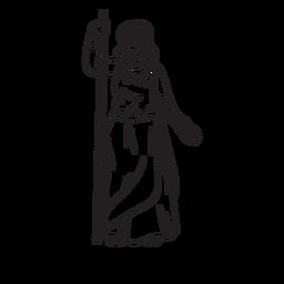 Contorno desenhado de mão Hera