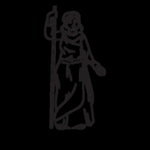 Contorno dibujado a mano de Hera
