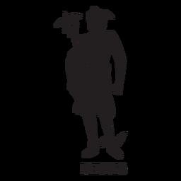 Hermes dibujado a mano cortado negro