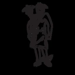 Contorno dibujado a mano de Hermes